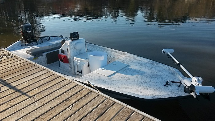 Fly Fishing boat for Striper and Spotted Bass fishing on Lake Sidney Lanier